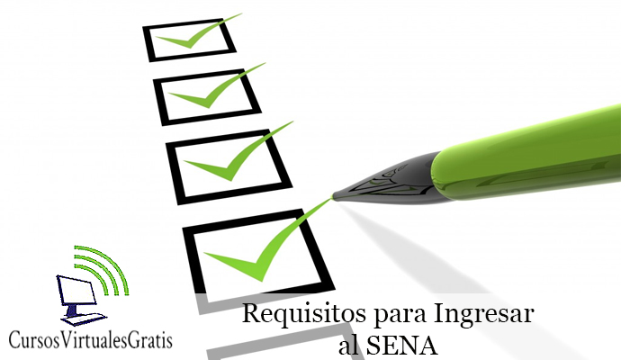 requisitos para entrar al sena